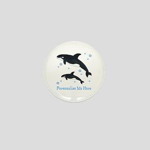 Personalized Killer Whale Mini Button