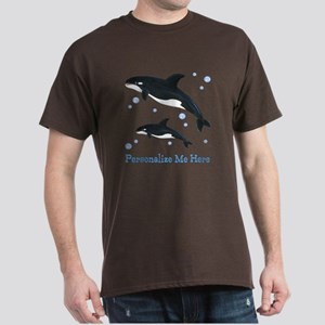 Personalized Killer Whale Dark T-Shirt