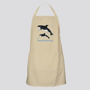 Personalized Killer Whale Apron