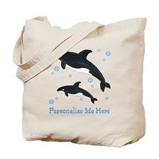 Personalized Killer Whale Tote Bag