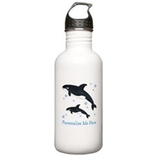 Personalized Killer Whale Stainless Water Bottle 1