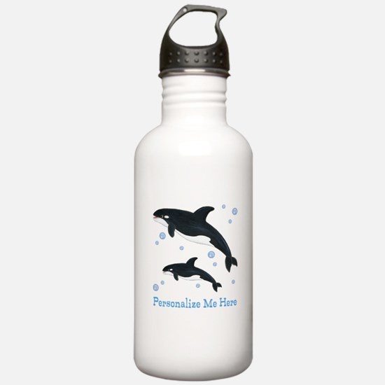 Personalized Killer Whale Water Bottle