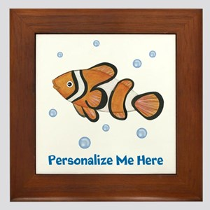 Personalized Clown Fish Framed Tile