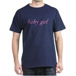 Baby Girl (pink & purple) Navy T-Shirt