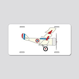 Airplane Aluminum License Plate