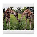 2 Giraffes Art Tile Coaster