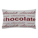 Silver Celebrate Chocolate Pillow Case
