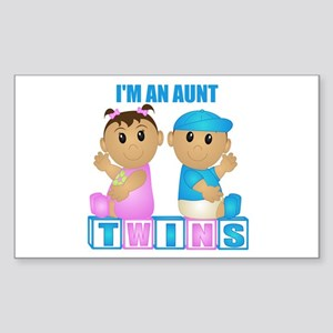 I'm An Aunt (TBG:blk) Rectangle Sticker