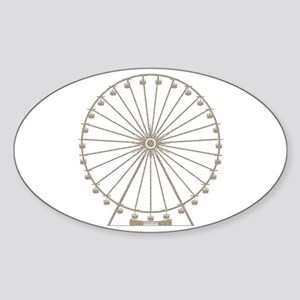 Ferris Wheel Sticker (Oval)