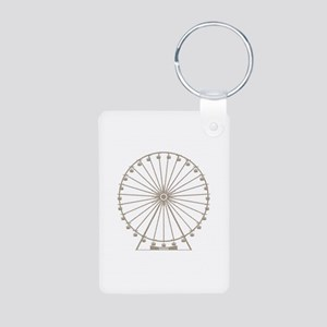 Ferris Wheel Aluminum Photo Keychain