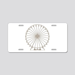 Ferris Wheel Aluminum License Plate
