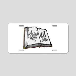 Viking Book. Aluminum License Plate