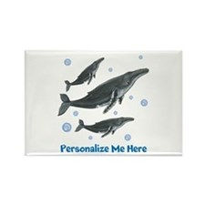 Personalized Humpback Whale Rectangle Magnet