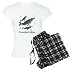 Personalized Humpback Whale Women's Light Pajamas