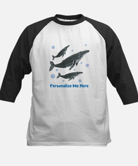 Personalized Humpback Whale Kids Baseball Jersey
