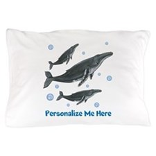 Personalized Humpback Whale Pillow Case