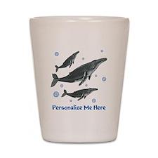 Personalized Humpback Whale Shot Glass