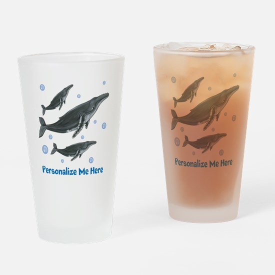 Personalized Humpback Whale Drinking Glass