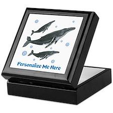 Personalized Humpback Whale Keepsake Box