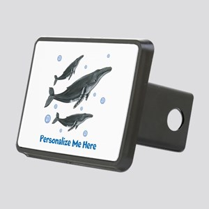 Personalized Humpback Whale Rectangular Hitch Cove