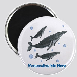Personalized Humpback Whale Magnet