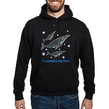 Personalized Humpback Whale Hoodie (dark)