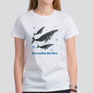 Personalized Humpback Whale Women's T-Shirt