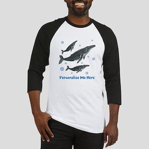 Personalized Humpback Whale Baseball Jersey