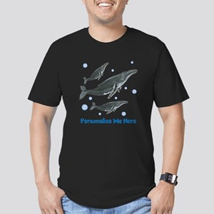 Personalized Humpback Whale Men's Fitted T-Shirt (