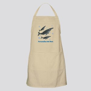 Personalized Humpback Whale Apron