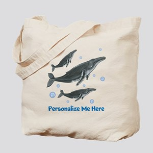 Personalized Humpback Whale Tote Bag