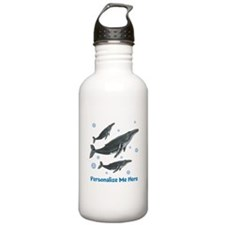 Personalized Humpback Whale Stainless Water Bottle