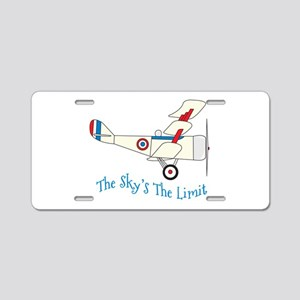 The Skys The Limit Aluminum License Plate