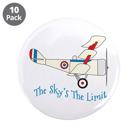 "The Skys The Limit 3.5"" Button (10 pack)"