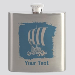 Viking Ship with Text. Flask