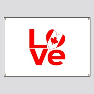 Red Canadian LOVE Banner