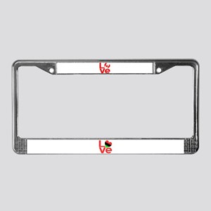 Red Canadian LOVE License Plate Frame