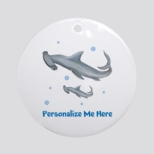 Personalized Hammerhead Shark Ornament (Round)