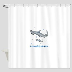 Personalized Hammerhead Shark Shower Curtain