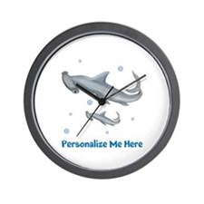 Personalized Hammerhead Shark Wall Clock