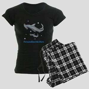 Personalized Hammerhead Shark Women's Dark Pajamas