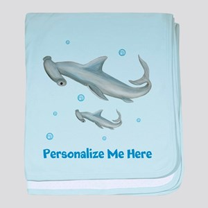 Personalized Hammerhead Shark baby blanket