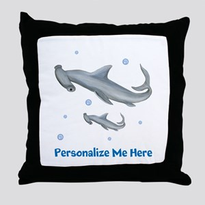 Personalized Hammerhead Shark Throw Pillow