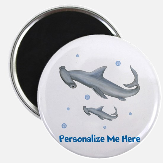 Personalized Hammerhead Shark Magnet