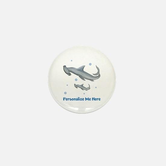 Personalized Hammerhead Shark Mini Button