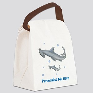 Personalized Hammerhead Shark Canvas Lunch Bag