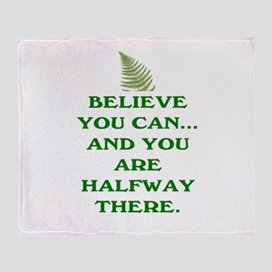 YOU ARE HALFWAY THERE! Throw Blanket
