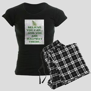 YOU ARE HALFWAY THERE! Women's Dark Pajamas