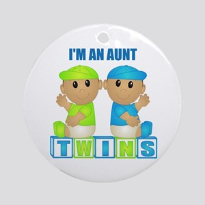 I'm An Aunt (TBB:blk) Ornament (Round)