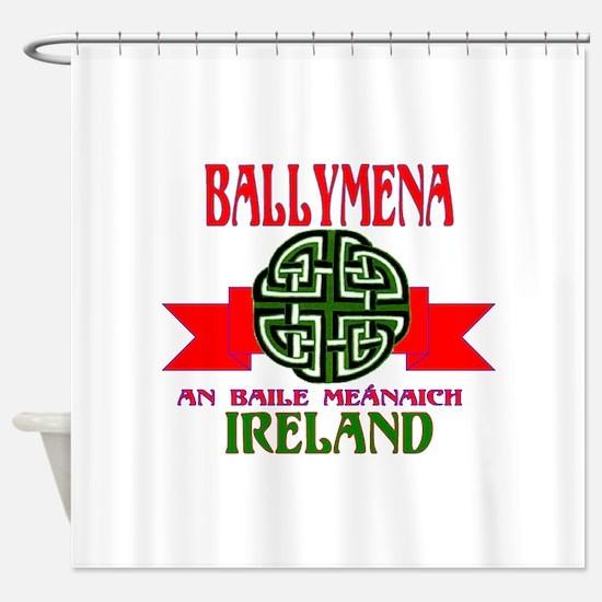 Ballymena Remake ribbon2.png Shower Curtain